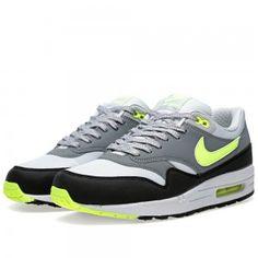 Nike Air Max 1 Schoenen Heren Essentieel Dusty Grijs, Volt/Cool Grijs