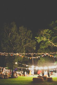 Nighttime picnic and party under the stars