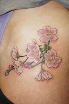 Chris Garver | Beautiful and Delicate Blossoms | Tattoo