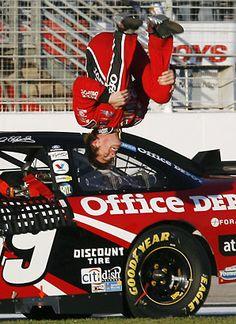 NASCAR Drivers - Carl Edwards' famous flip....