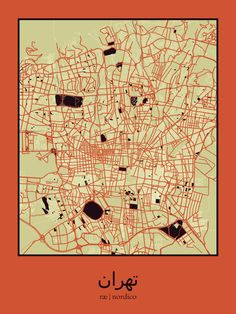 Tehran map print