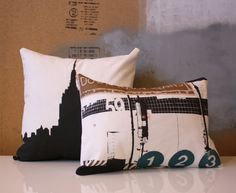 New York City Pillow Bundle   2 Pillow Set  Gifts for by NestaHome, $57.50