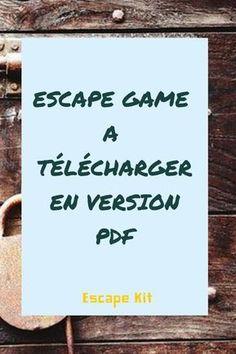 Geschenk - Escape game à télécharger en version PDF pour l'installer chez vous. Escape The Classroom, Spy Birthday Parties, Game Effect, Book And Magazine, Diy Games, Escape Room, Teaching Tools, Diy For Kids, Activities For Kids