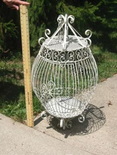 Bird Cage Antique Bird Cages, The Caged Bird Sings, Decorative Bird Houses, Birdcages, House Of Cards, Birdhouses, Backyards, Love Birds, Hanging Chair