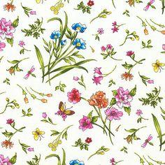 Fantasia - Butterfly Flowers - Eggshell