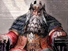 Dáin II Ironfoot or King Dáin was the son of Náin and the grandson of Grór, the youngest son of Dáin I of Durin's folk, and was lord of the Dwarves of the Iron Hills in Wilderland. He was a Dwarven King of Durin's Folk, the fifth King under the Mountain, and the Lord of the Iron Hills during the War of the Ring in Middle-earth in the late Third Age.