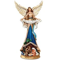 Thomas Kinkade Angel Nativity Figurine: Unto Us A Child Is Born
