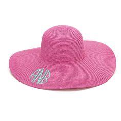 6c632ecb Personalized Monogrammed Womens Floppy Hat Available Monogrammed /  Embroidered / Personalized or Blank - Name Monogram