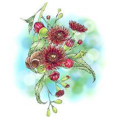 Gumnut Flower Digi Stamp in Digital images