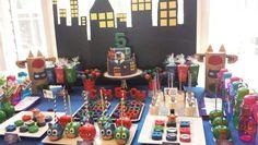 PJ Masks dessert table Pjmask Party, Baby Party, Party Time, Party Ideas, Festa Pj Masks, 6th Birthday Parties, Birthday Ideas, Minions, Dessert Table