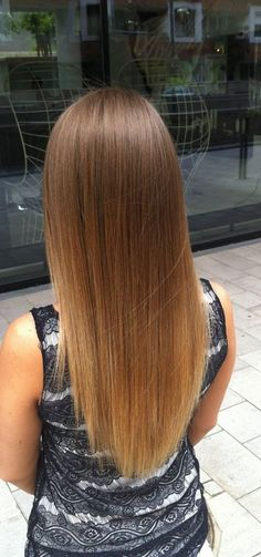 ombre on straight hair