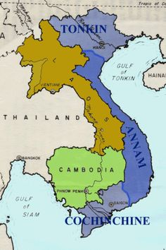 French-Indochina War, the first Vietnam War, Vietnam Map, Vietnam Vets, North Vietnam, First Indochina War, World Conflicts, Asia Map, Horrible Histories, French Foreign Legion, French Colonial