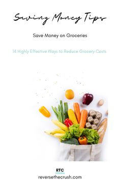 14 Highly Effective Ways to Reduce Grocery Costs. These are some of my best money saving tips for lowering grocery expenses. I used this tips to save money on coffee, bulk meat, and more over the past year. #savemoney #savingmoney #groceries