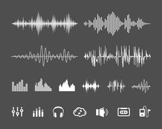 Sound waveforms by Microvector on @creativemarket