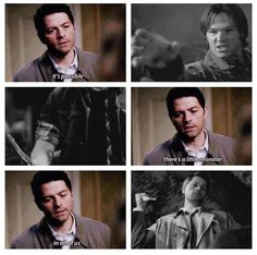 "It's possible there's a little monster in all of us ~ Cas to Claire || I'm so agree with Cas ^_^ #Supernatural 10x10 ""the hunter games"" #Castiel #Dean Winchester #Sam Winchester #Team Free Will"