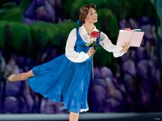Belle on ice omg this is my dream