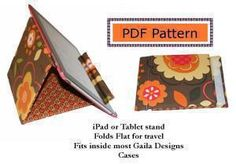 Download FREE iPad or Tablet Stand Sewing Pattern Sewing Pattern | Featured Products | YouCanMakeThis.com