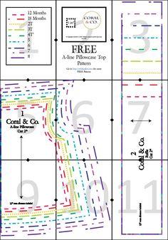 Free A-line PIllowcase Top Dress Pattern