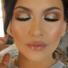 Sparkle neutral eye makeup