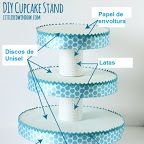DIY Cupcake Stand DIY Cupcake StandI had some styrofoam discs in 3 sizes from the craft store, they looked like … Cupcake Torte, Cake And Cupcake Stand, Cupcake Display, Cupcake Towers, Cupcakes Base, Grad Parties, Birthday Parties, Porta Cupcake, Diy Cake