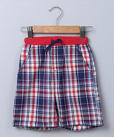 Red Plaid Shorts - Infant Toddler & Boys