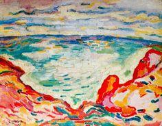 """peinture française : Georges Braque, """"la calanque"""", 1907, fauvisme"""