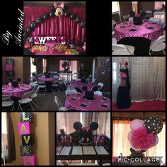 Babyshower Decorations by Anointed  Minnie Mouse goes Glam!