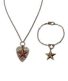 Weathered Star DIY Necklace & Bracelet Kit by Vintaj #zulily #zulilyfinds