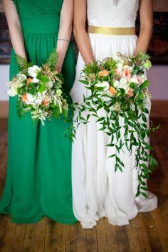 st-patricks-day-wedding-inspiration - green dress!