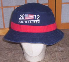 e4e5ac640ce Team USA 2012 London Olympics USOC Ralph Lauren Polo Bucket hat cap - LOVE!  Material
