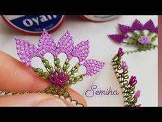 Needle Lace, Bargello, Crochet Gifts, Make It Yourself, Embroidery, Youtube, Yarn Flowers, Needlepoint, Youtubers