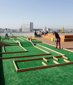 rooftop mini-golf course
