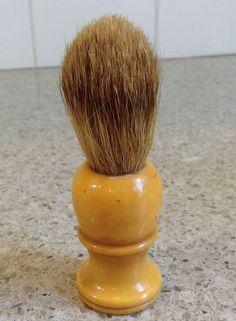 Vintage Deco Opal Butterscotch Bakelite Handle Shaving Brush Badger Bristles | eBay