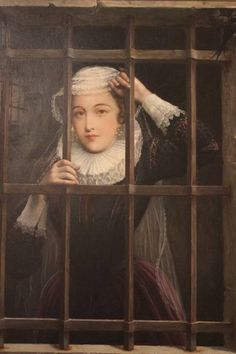 Victorian Oil Painting of Mary Queen of Scots.    The Execution of Mary, Queen of Scots: http://www.eyewitnesstohistory.com/maryqueenofscots.htm