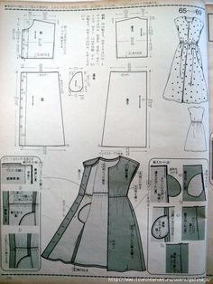 What About Amazing Easy Sewing Projects ? Japanese Sewing Patterns, Sewing Blouses, Gown Pattern, Dress Making Patterns, Pattern Cutting, Pattern Drafting, Fashion Sewing, Llamas, Sewing Techniques