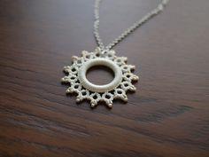 Tatting necklace in white   aco-kuro   Flickr