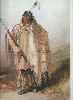 "Karl Bodmer,  Native American Print   ""Pehtiska-Ruhka, Minnetaree"""