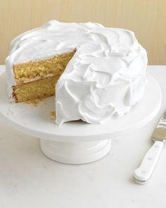 Versatile Vanilla Cake - Martha Stewart.  Add 1/4 teaspoon baking powder.  Cream sugar and butter for 5+ min.