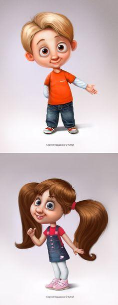 Igrusha_kids_characters. Character © Сергей Кардаков