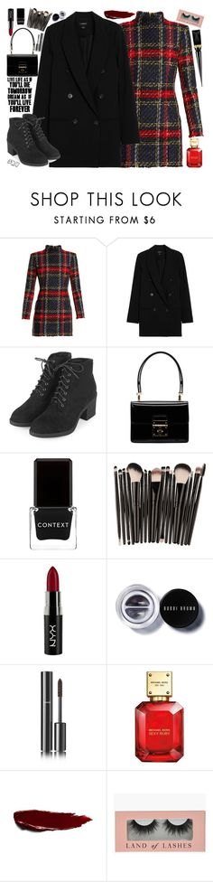 """""""s k y"""" by skyl19 ❤ liked on Polyvore featuring Balmain, Topshop, Dolce&Gabbana, Context, NYX, Bobbi Brown Cosmetics, Chanel, Michael Kors and Christian Louboutin"""