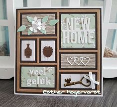 Scrapbooking, Scrapbook Cards, New Home Cards, Window Cards, Collage Design, Paint Colors For Living Room, Marianne Design, Congratulations Card, Diy Cards