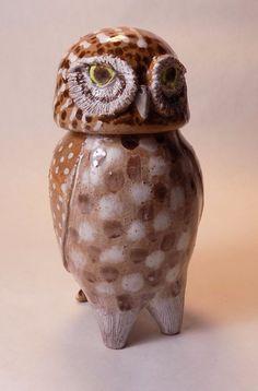 The LILITH OWL FOLK POT – Animal Face Jug – Spice Jar – Effigy Jar