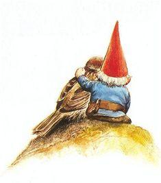 Rien Poortvliet - David de kabouter - a loving memory of my childhood Woodland Creatures, Magical Creatures, Fantasy Creatures, Fantasy Kunst, Fantasy Art, David The Gnome, Mushroom Art, Dutch Artists, Fairy Art