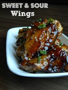 Sweet & Sour Wings #Recipe #wings #asian #gameday #bakingbeauty
