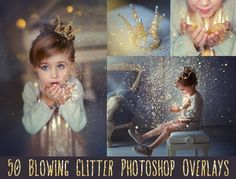 50 Blowing glitter photoshop overlays
