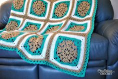 Sand and Surf Throw Free Crochet Afghan Pattern