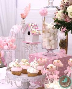 ❣ вαву ѕнσωєя ι ∂ єαѕ детская baptism party, baby shower parties y baby sho Idee Baby Shower, Girl Shower, Bird Birthday Parties, Girl Birthday, Party Decoration, Baby Shower Decorations, Birthday Decorations, Table Decorations, Shower Party