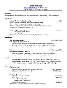 Freshman In College Resume Example Of Developer Resume  Httpresumesdesignexampleof .