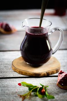 Pomegranate Molasses Fresh pomegranate juice - 5 cups Granulated Sugar - ½ cup Lemon juice - 1 tbsp