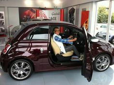 Last year #Abarth brought out the #SpecialEdition #AbarthMaserati... and we managed to get hold of one! But not for long, the lovely Miss Chorlton was very quick to snap it up. Here she is collecting her car. #LuckyLady #BeautifulCar #SpecialEdition #Maserati